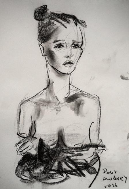 dessin-de-jeune-femme-epaules-nues-par-lartigue