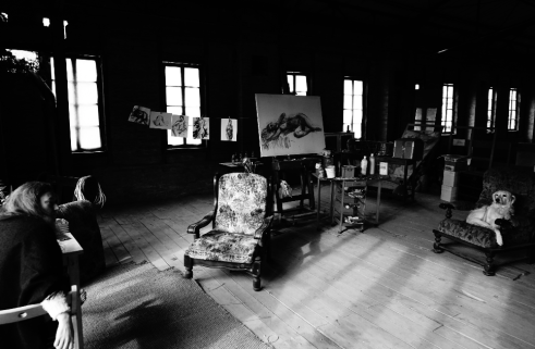 Atelier Lartigue-Marne tableau dessins
