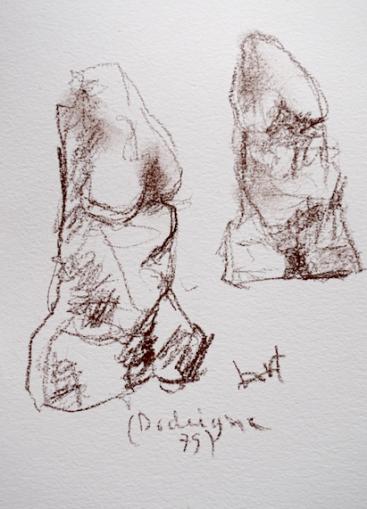 Dessin au Grand Palais expo Rodin - oeuvre de Dodeigne