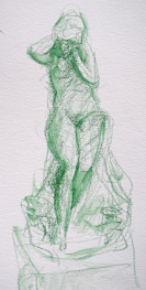 Dessins au musée Rodin par Lartigue 2