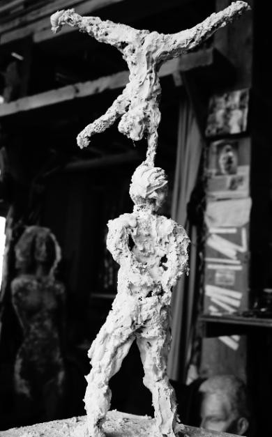 sculpture en plâtre - Lartigue 2