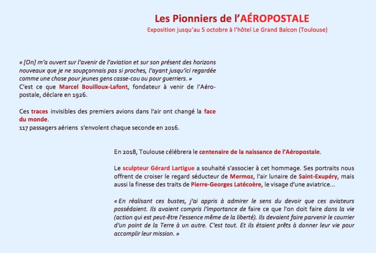 vernissage aéropostale Toulouse - Lartigue