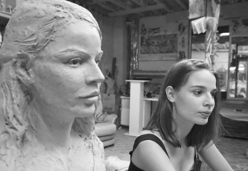 modèle et son buste - Lartigue