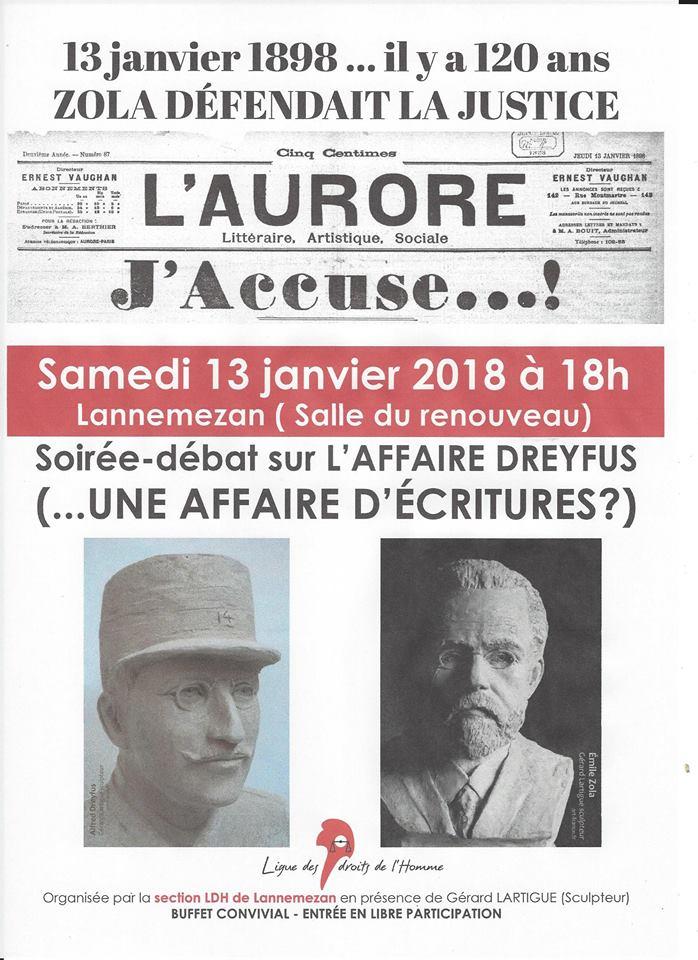 affaire dreyfus - zola bustes par Gérard Lartigue