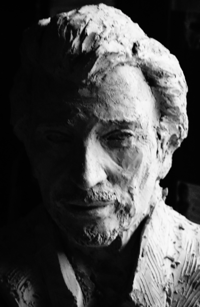 Buste Johnny Hallyday pour couler en bronze 1