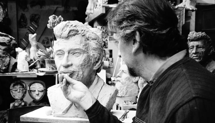 Johnny Hallyday buste par Lartigue 5