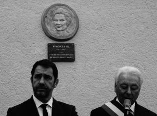 inauguration médaillon Simone Veil - Lartigue 1