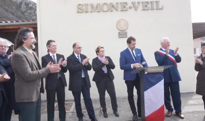 inauguration médaillon Simone Veil - Lartigue 2