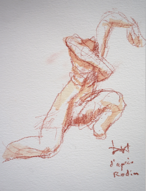 Dessins Lartigue à partir sculpture Rodin 5