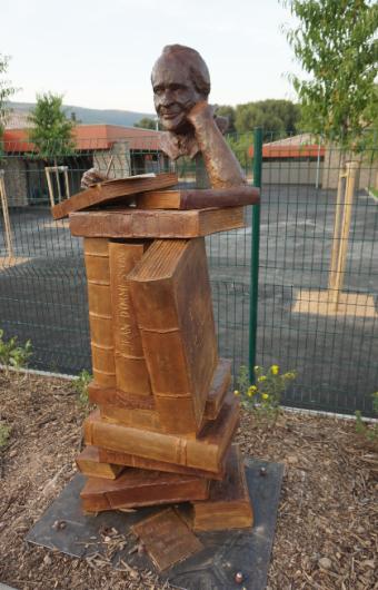 Monument Jean d'Ormesson - buste - Lartigue 11