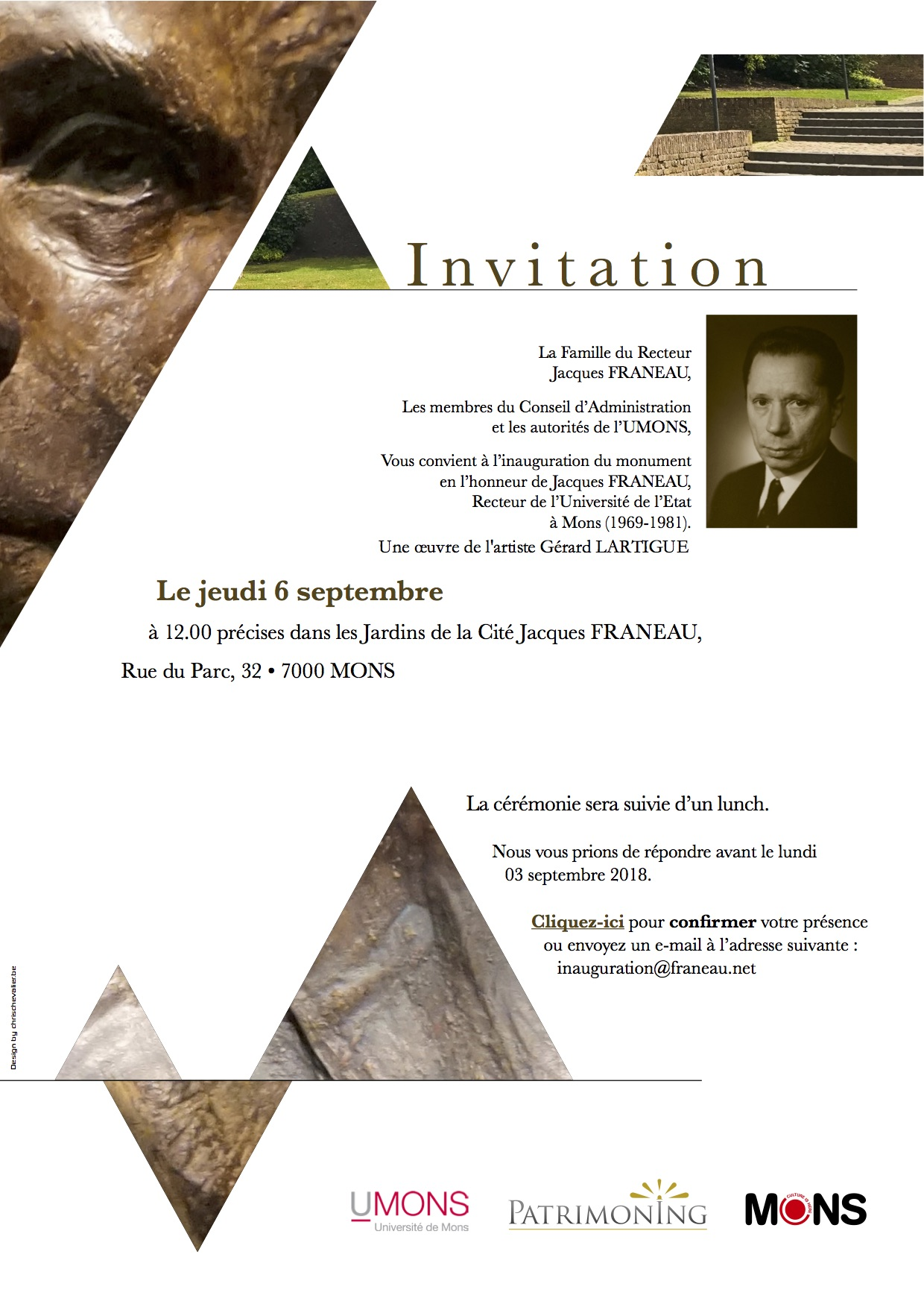 Invitation Jacques Franeau A5 projet A V4-1 Sculpteur Lartigue