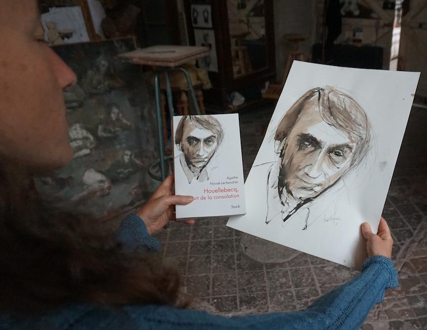 Couverture livre sur Houellebecq par Lartigue - Agathe Novak Lechevalier