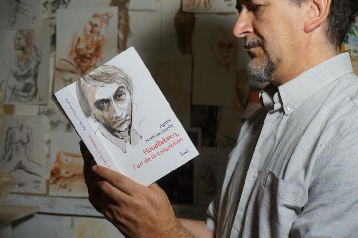Dessin de Houellebecq par Gerard Lartigue